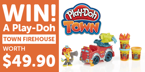 Win a PLAY-DOH Town Firehouse set worth $49.90!