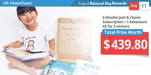 Win a 6 Month Josh & Cherie Children's Book Subscription and 1 Adventure Kit worth $219.90 for two lucky winners!