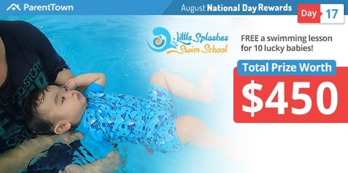 Win FREE a swimming lesson with Little Splashes Swim School worth $45 for 10 lucky babies!