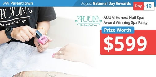 Win an Award Winning Spa Party worth S$599 by AUUM - The Honest Nail Spa!