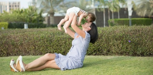 Thoughts that mums have while playing with their kids