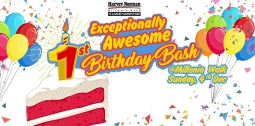 Exceptional 1st Anniversary Birthday Bash at Harvey Norman