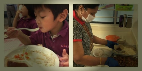 Pre-school centres in Singapore adopt the central kitchen approach!