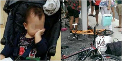 Toddler hurt after being hit by cyclist in Singapore