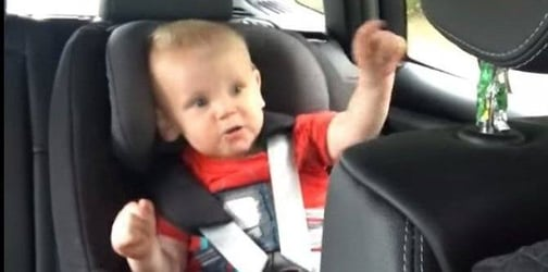 """Baby tries to say """"daddy"""" but blurts out a cheeky word!"""