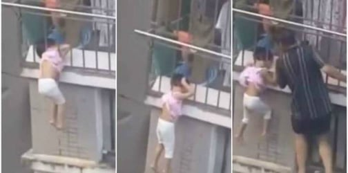 High-rise safety: Little girl found hanging by head from 4th-floor balcony