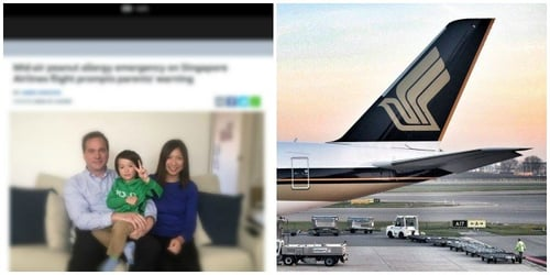 Toddler has severe peanut allergy on Singapore Airlines flight WITHOUT eating peanuts!