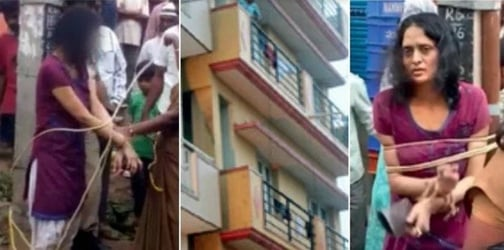 Indian Woman Throws 9-Year-Old Daughter From Balcony Twice