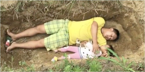 Heartbroken Father Digs Grave For Critically Ill Daughter