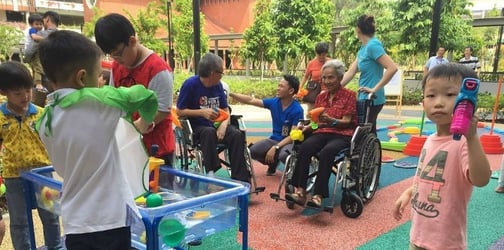 Intergenerational playground and daycare centre opens at St Joseph's Home