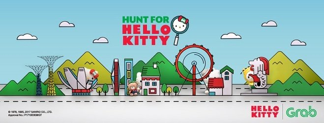 Win Hello Kitty plush toys in Singapore when you ride with Grab!