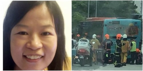 Mum dies after being hit by bus in Singapore