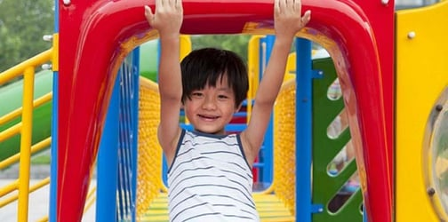 Playground safety: Do not ever go down the slide with your kids!