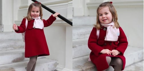 Princess Charlotte looks oh-so adorable on her first day of nursery school!