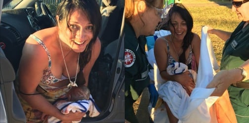 Giving birth in a car was one of the most beautiful experiences of this mum's life