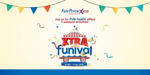 A carnival of promotions is happening right now at FairPrice Xtra!