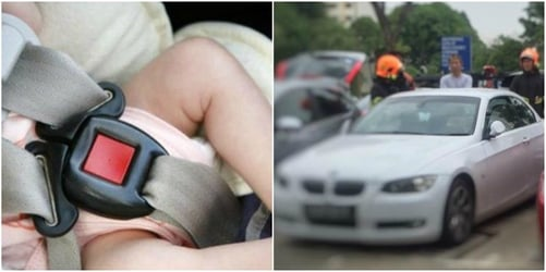 Baby gets locked up in car accidentally, parents panic
