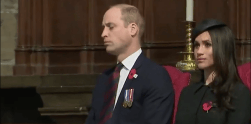 New father Prince William falls asleep during an event