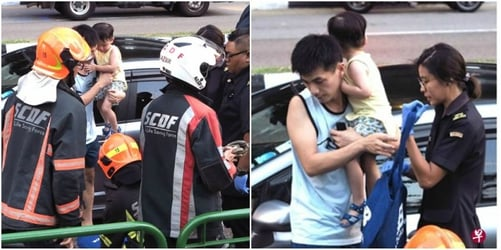 Singapore Child Locked In Car With Keys Inside, Father Panics