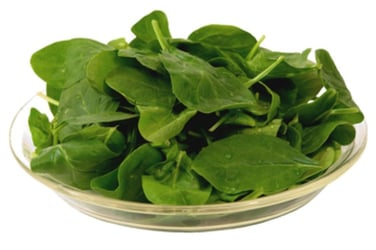 Spinach with minced garlic
