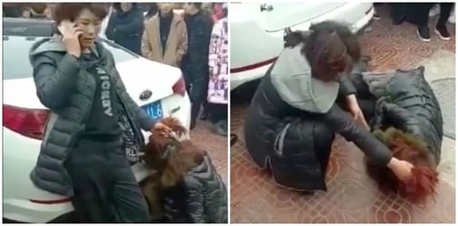 Wife beats husband's mistress in public: Is this fair?