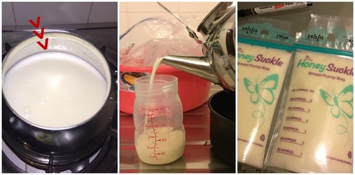 How to scald breastmilk: a step-by-step guide with images