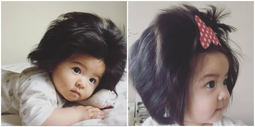 Meet the Japanese baby whose luscious locks and chubby cheeks are stealing our hearts