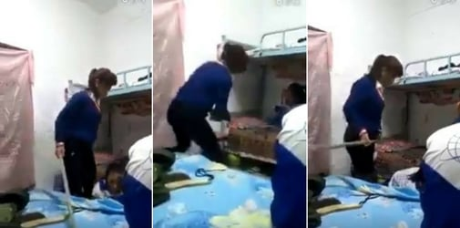 Mom Beats Teenage Daughter With A Rod For Getting Bad Grades