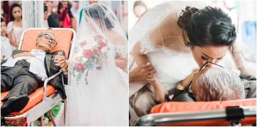 Ailing father dies after walking daughter down the aisle on her wedding day
