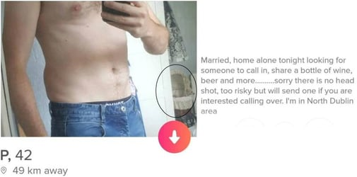 Married man's cheating post on dating app gets trolled