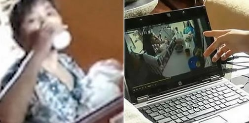 Mum catches nanny stealing and drinking baby's milk