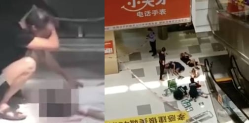 3-year-old falls four storeys down from mall escalator