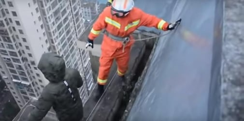 8-year-old refuses to attend school, threatens suicide on 33-story building