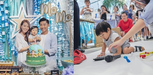 Local Singers Tay Kewei And Alfred Sim Celebrate Their Son's first Birthday With Eco-Themed Party