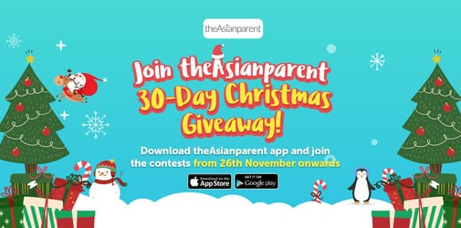 30 awesome days of Christmas giveaways with theAsianparent from 26 Nov-25 Dec!