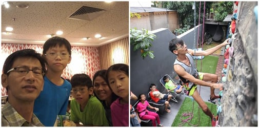Singapore dad returns to rock climbing just 4 months after being told he'd never walk again