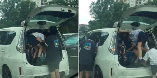 Malaysian woman slammed for squeezing primary school kids into boot, trying to ferry over 10 kids in 1 car