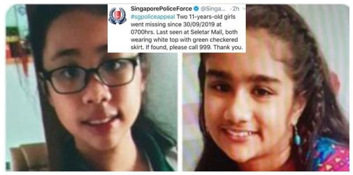 Primary School Girls Who Went Missing In Sengkang For More Than A Day Found