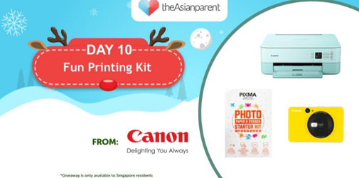 WIN A Fun Printing Kit From Canon: Day 10 of Christmas Giveaways