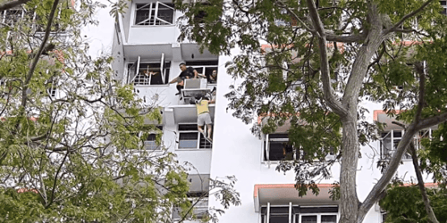 SCDF Rescues Woman Hanging Off Air-Con Ledge at King George's Avenue