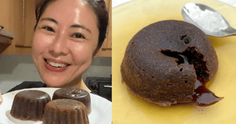 I Tried Cynthia Koh's Easy Recipe for Air Fryer Lava Cake and I'll Never Pay for One Again
