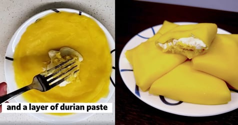 Make A Delicious Durian Crepe With This Simple Recipe
