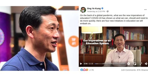 Schools to Implement Home-based Learning on Selected Days Regardless of the Pandemic: Ong Ye Kung