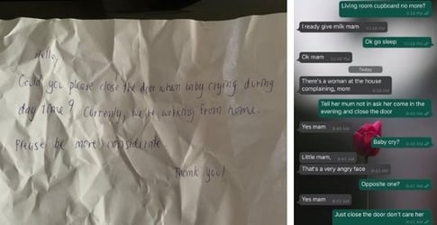 Neighbour Complains Of Crying Baby, Mum Hits Back With A Witty Letter
