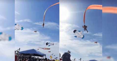 Girl, 3, Accidentally Lifted Metres Into the Air by Kite at Taiwan Festival