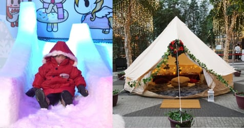 Go Glamping, Drive a Dino-kart And Frolic in a Double-storey Snow Fun House At Changi Festive Village