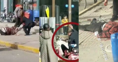 Outrage As Video Shows Man In China Beats Wife To Death As Onlookers Do Nothing