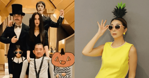 Jay Chou Dresses Family Up as the Addams Family While Chen Xiuhuan is a Pineapple — and Other Celebrities During Halloween