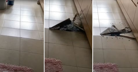 Kitchen Floor Tiles Suddenly Crack Inside 16-Year-Old HDB Flat In Toa Payoh