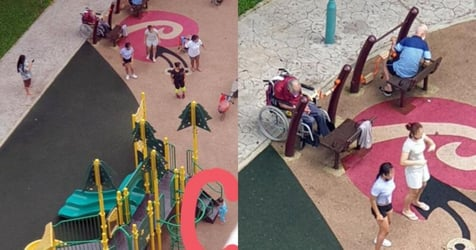 Maids Neglect Elderly And Young Charges As They Dance At Bukit Batok Playground
